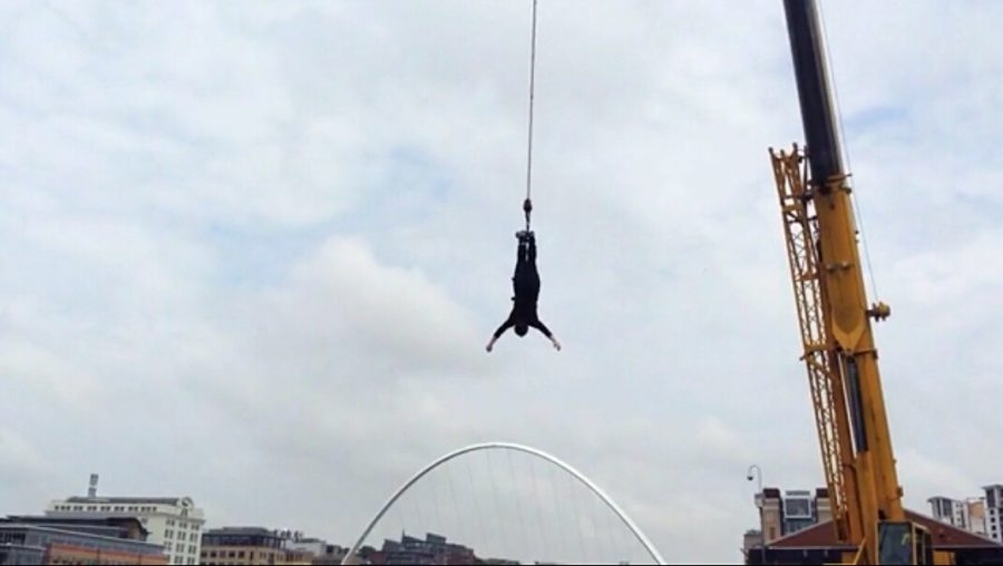 Bungee Jumping over the Tyne River in Newcastle Upon Tyne