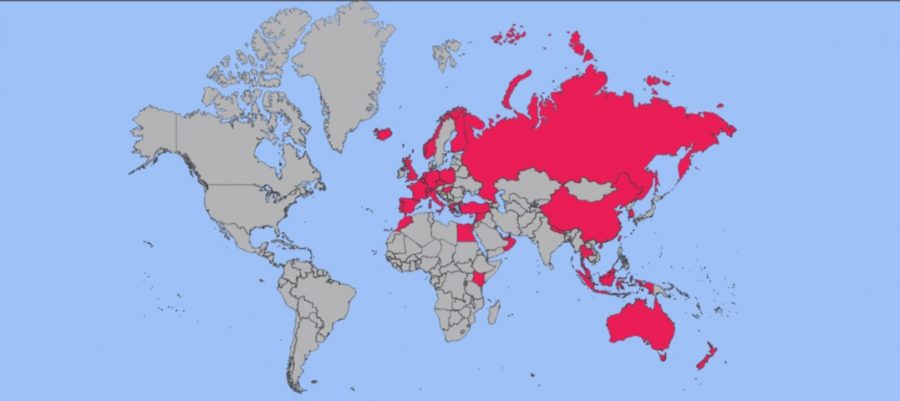 Countries travelled www.whatsupcourtney.com