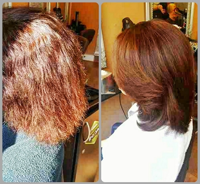 hair transformation using hair keratin treatment