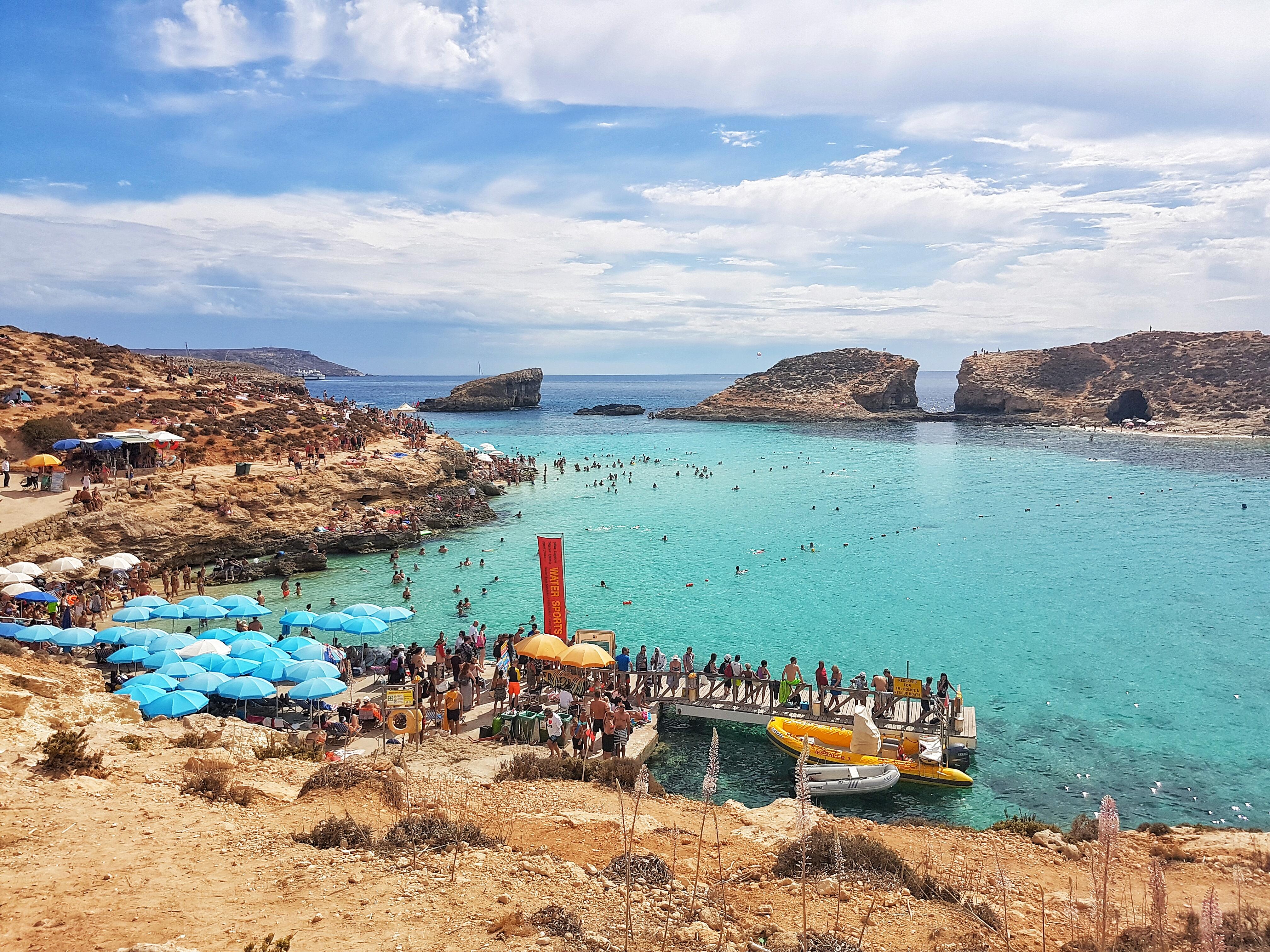 the beach at Comino island in Malta #cominoisland #malta #travel