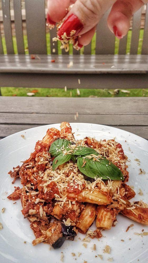 Sicilian Pasta Alla Norma Recipe - www.whatsupcourtney.com