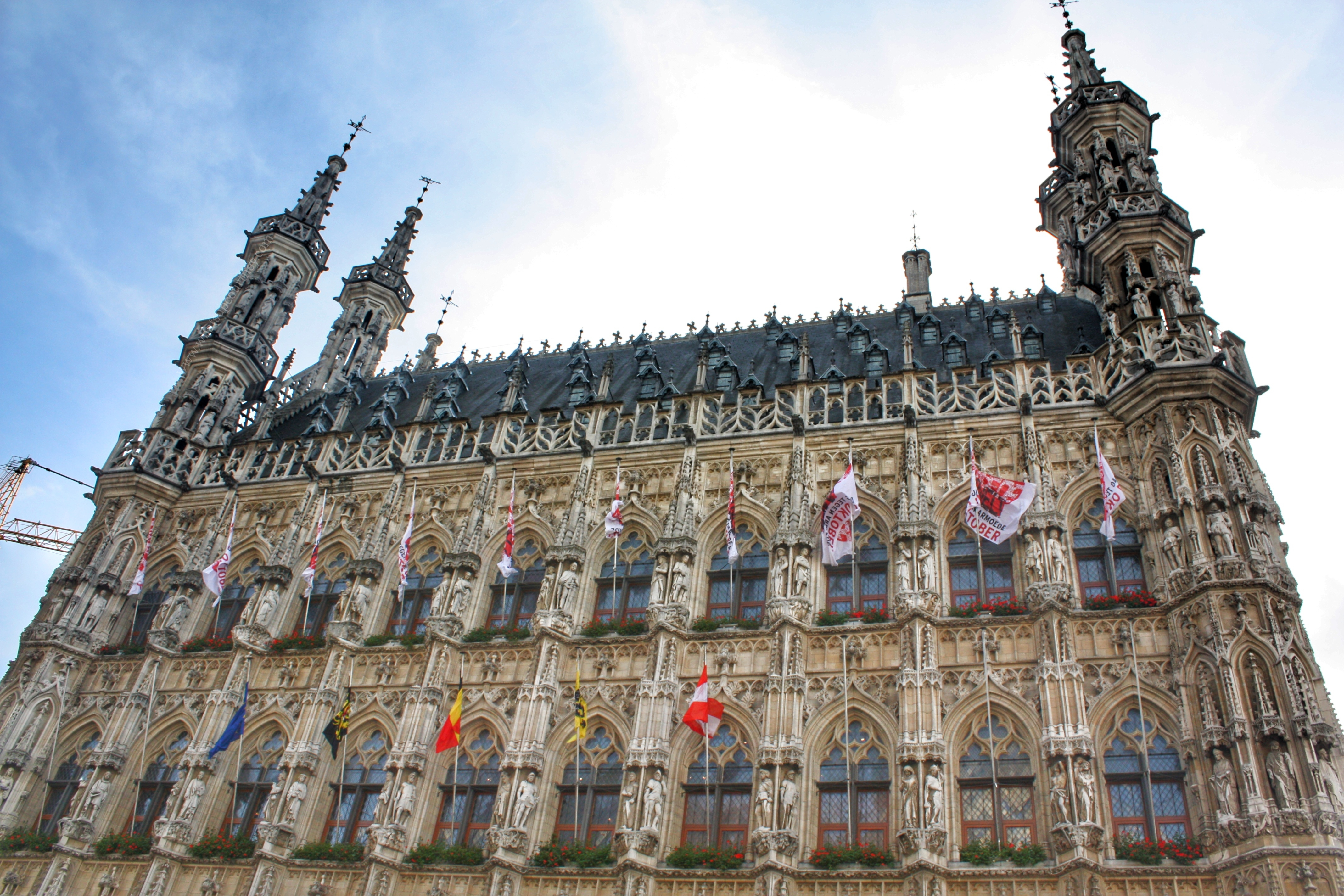 Stadhuis - the iconic town hall located in the centre of Leuven with gothic architecture ,read more about what you can do in Leuven in 48 hours at www.whatsupcourtney.com #Leuven #travel #travelguide