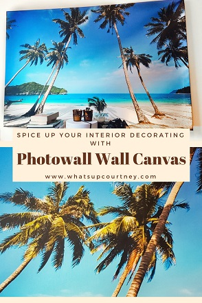 Photowall wall canvas review www.whatsupcourtney.com #interior #interiordecorating