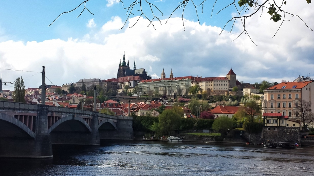 View of Prague castle, read more about the 12 alluring destinations for vegan travel www.whatsupcourtney.com #vegan #prague