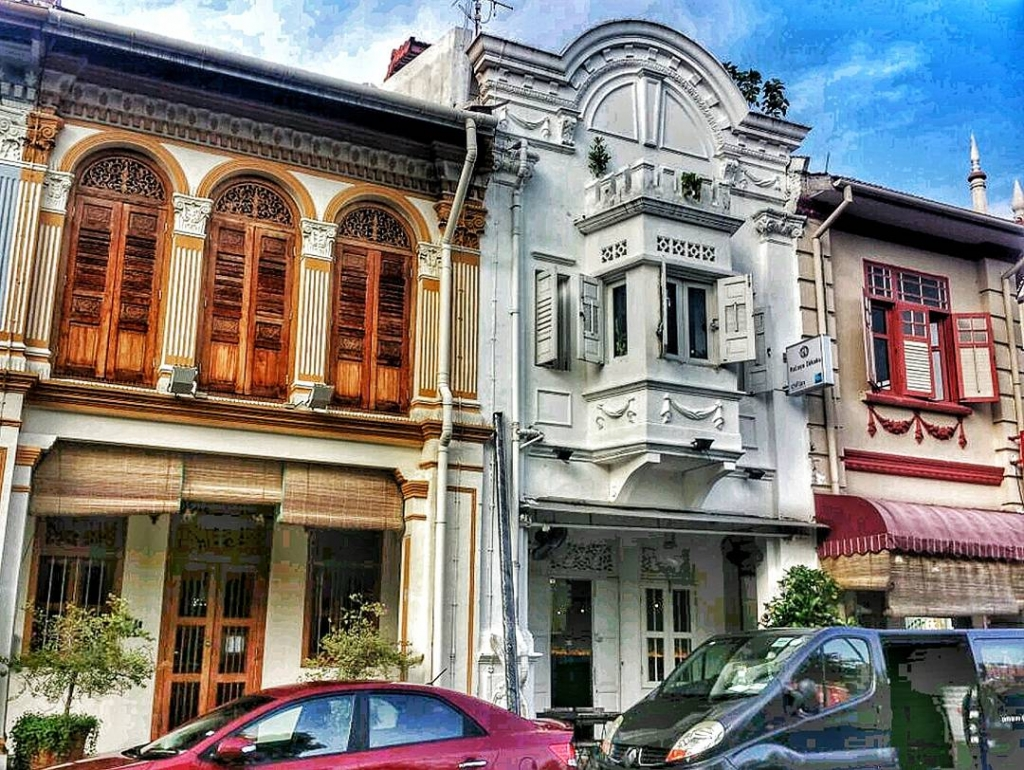 Peranakan buildings in Singapore - srcset=