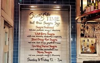 Tapas Revolution Sangria bar opening night ->www.whatsupcourtney.com