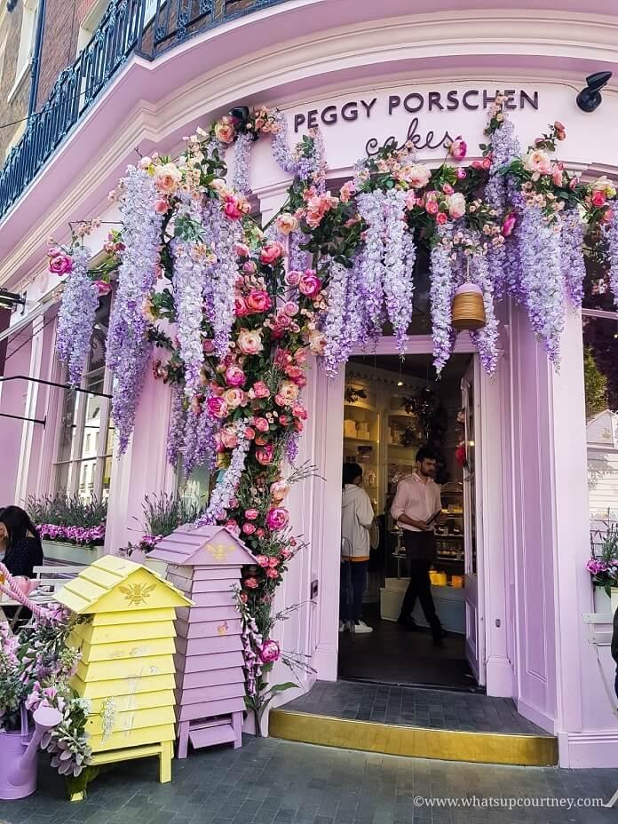 Peggy Porschen Cakes in Belgravia London Guide ->www.whatsupcourtney.com #London #belgravia #londonguide #travel #travelguide #peggyporschen