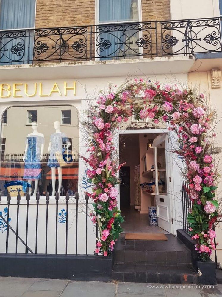 Floral arrangements outside of Beulah on Elizabeth St in Belgravia London Guide ->www.whatsupcourtney.com #London #belgravia #londonguide #travel #travelguide