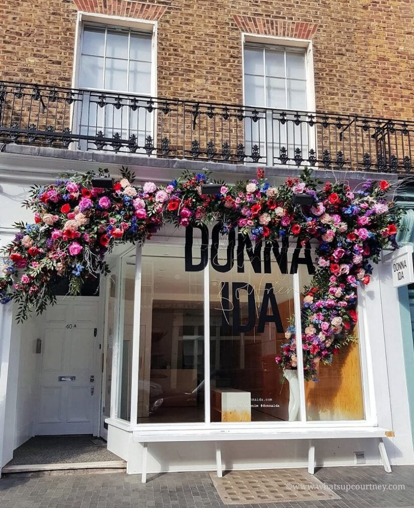Floral arrangements for Donna Ida on Elizabeth St in Belgravia London Guide ->www.whatsupcourtney.com #London #belgravia #londonguide #travel #travelguide