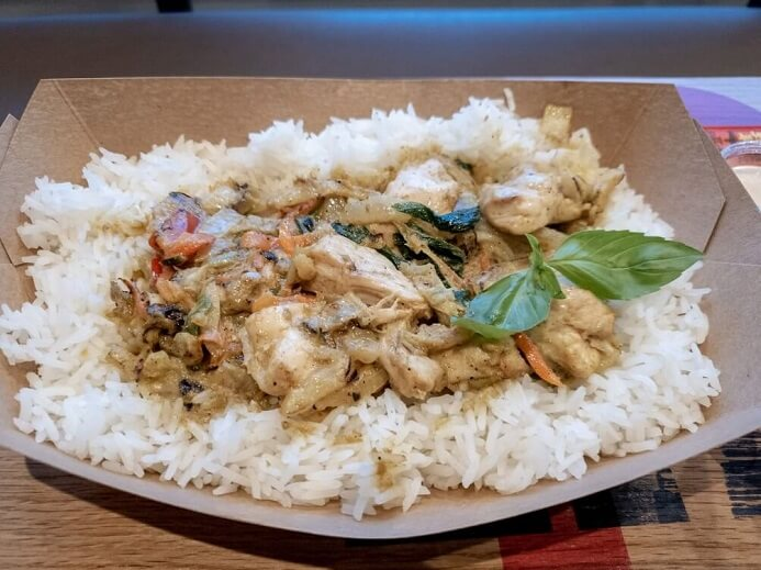 Thai Green Chicken Curry with Jasmine rice from Canaca in Newcastle Upon Tyne