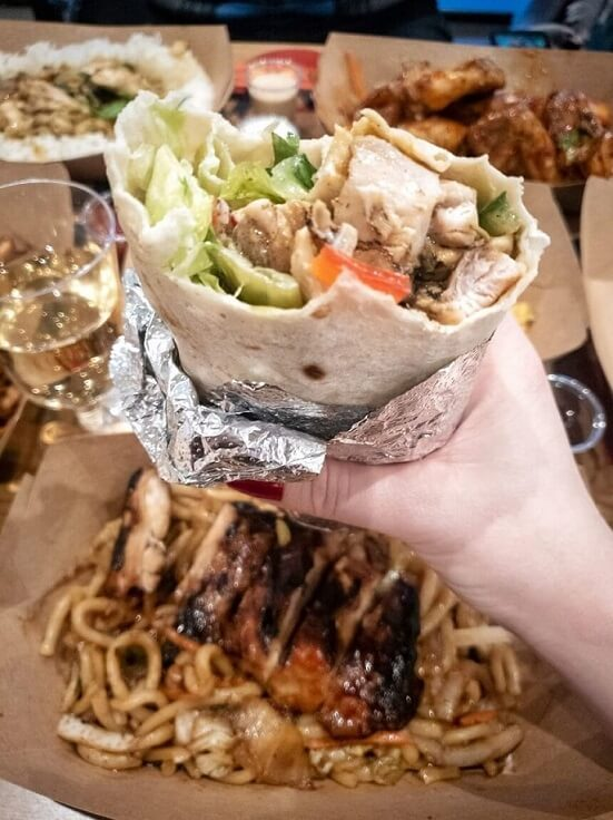 Chargrilled Chicken Gyros wrap from Canaca World Street food restaurant in Newcastle Upon Tyne