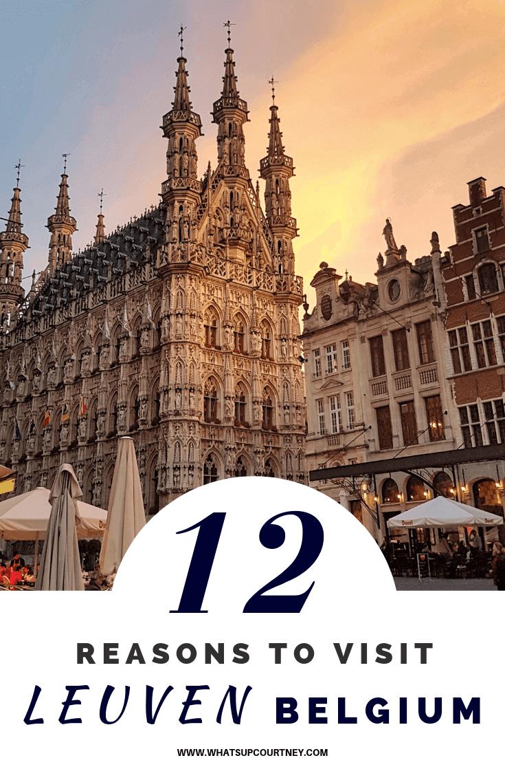 12 reasons to visit Leuven in Belgium - read more at https://whatsupcourtney,com #travel #leuven #belgium