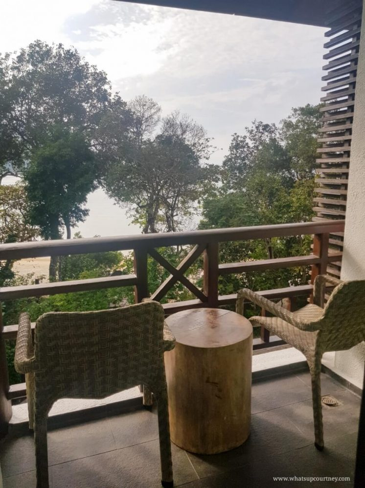 View from the balcony of the room at The Andaman Langkawi resort | heywhatsupcourtney