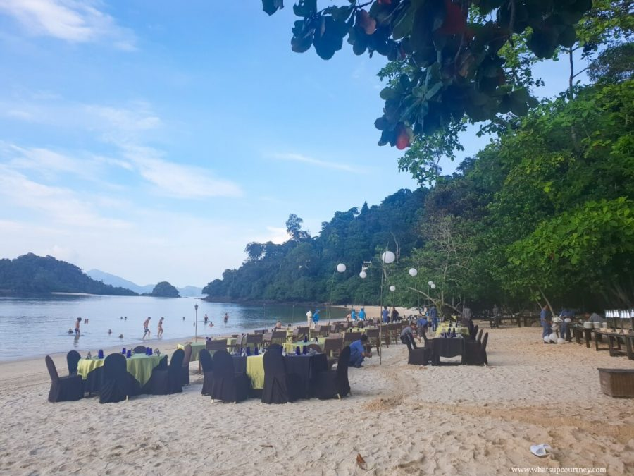 Barbeque Lunch on the beach at the resort in Langkawi | heywhatsupcourtney