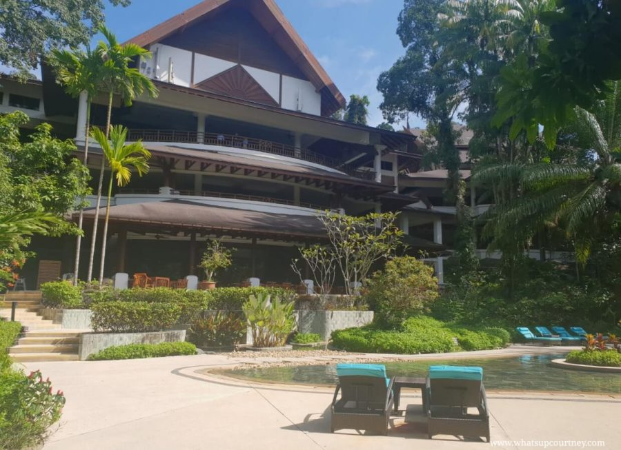 The exterior of the Andaman hotel from the pool lagoon | heywhatsupcourtney