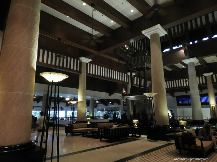 The interior lobby of The Andaman resort |heywhatsupcourtney