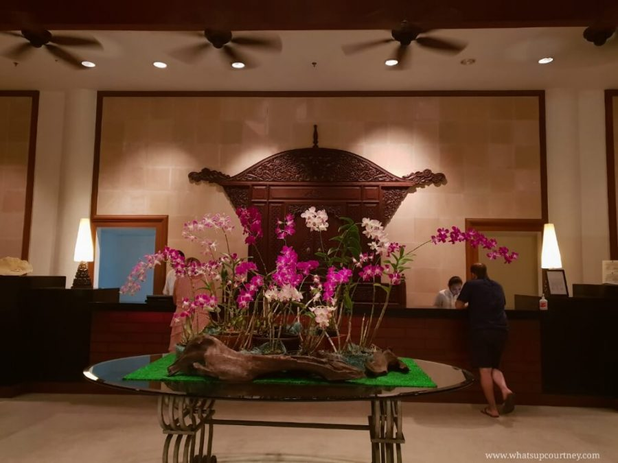 The reception area of the resort in Langkawi | heywhatsupcourtney