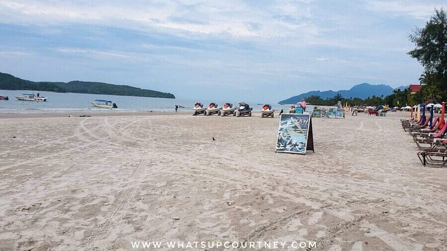 Pantai Cenang or Cenang beach in English - famous for watersports at Langkawi | heywhatsupcourtney