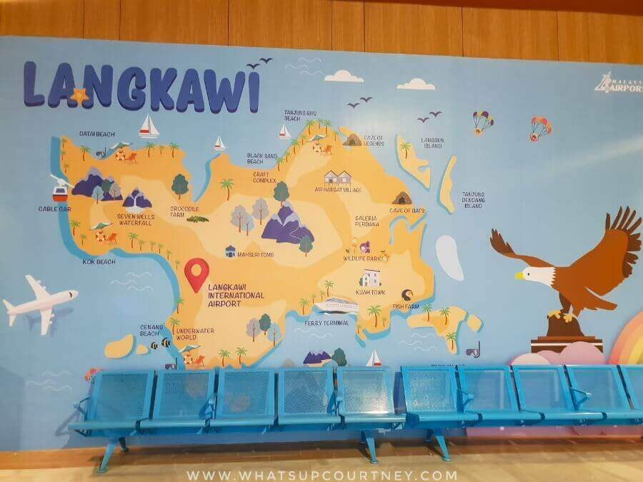 Map of Langkawi at the airport | heywhatsupcourtney