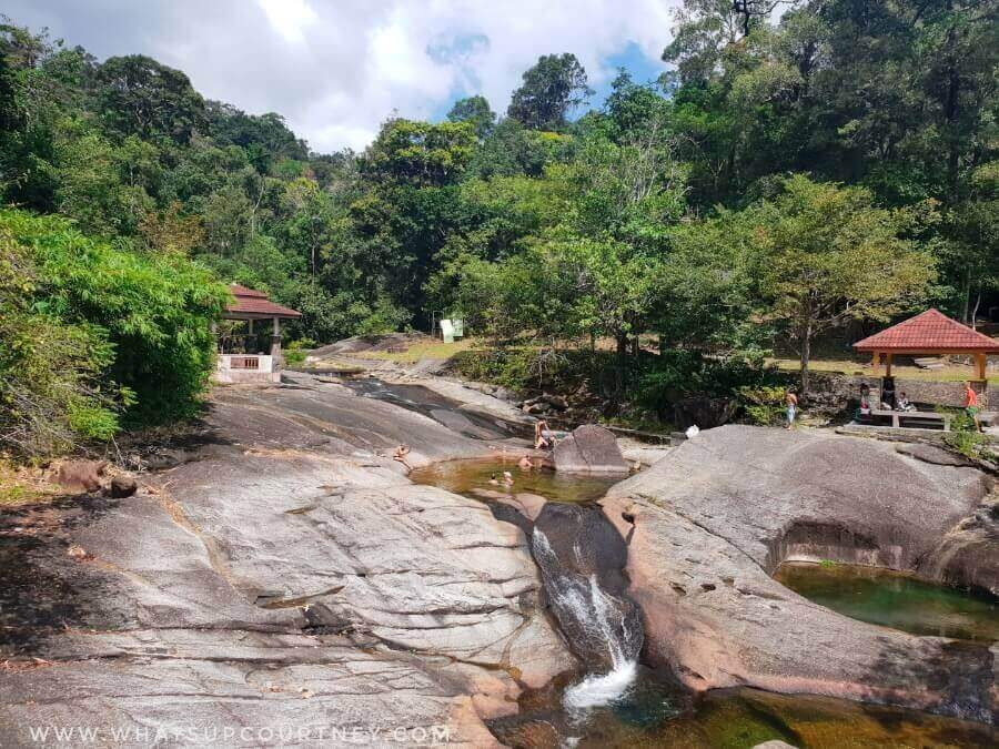 Seven wells natural rock slides at Langkawi | heywhatsupcourtney