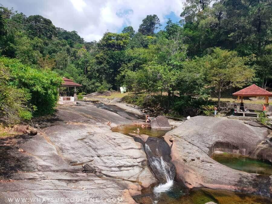 Seven wells natural rock slides at Langkawi | heywhatsupcourtney