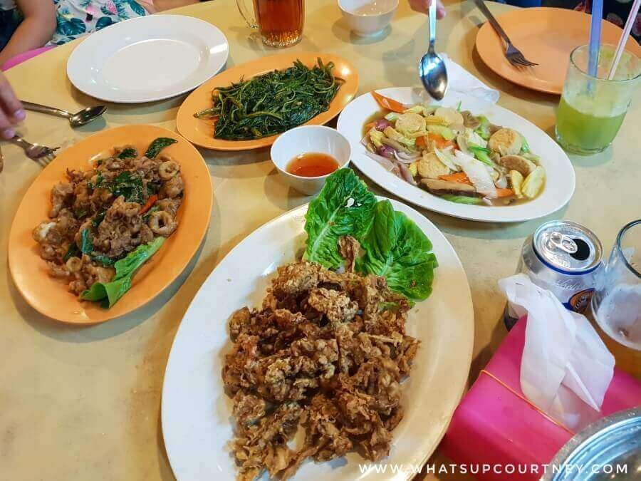 Delicious seafood and vegetable dishes from Wonderland restaurant | heywhatsupcourtney