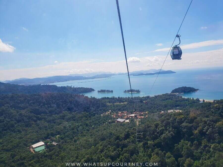 View from the Langkawi Cable Car Gondola | heywhatsupcourtney