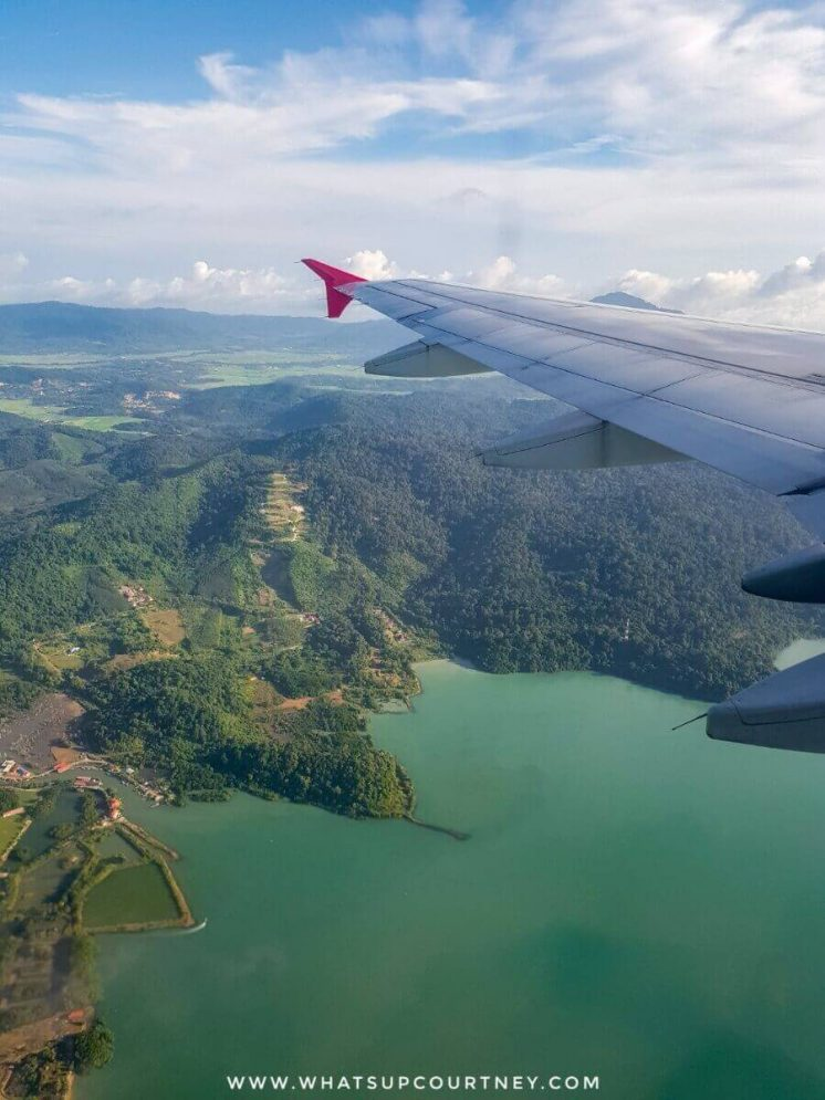 View of Langkawi island from the Aeroplane | heywhatsupcourtney