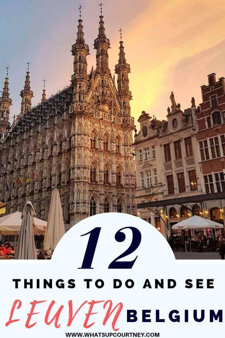 Things to do and see in Leuven Belgium - Belgian beer and chocolates to stunning architecture and history- www.whatsupcourtney.com