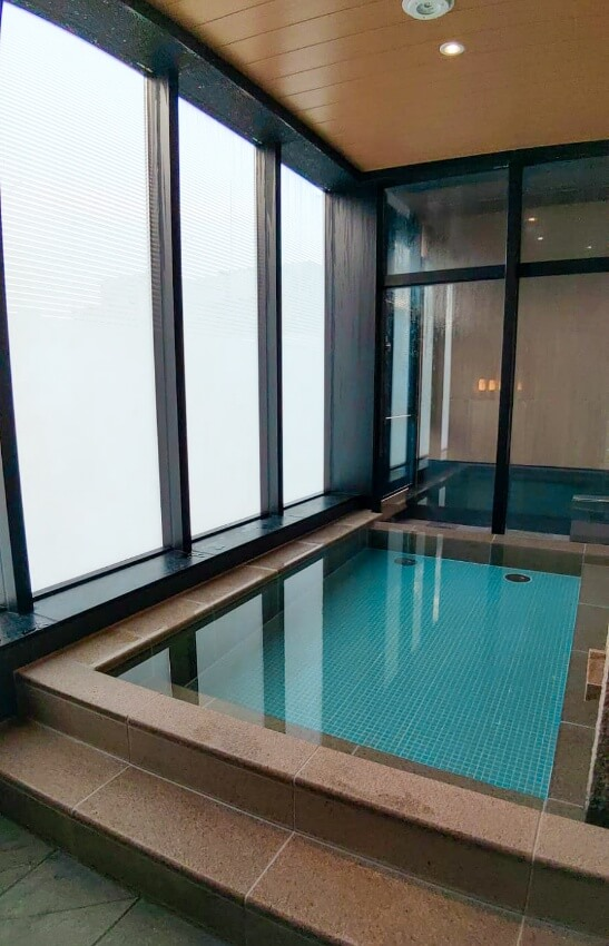 Relax at the indoor Sky Spa, a rooftop onsen at Candeo Hotel - - read more at www.whatsupcourtney.com