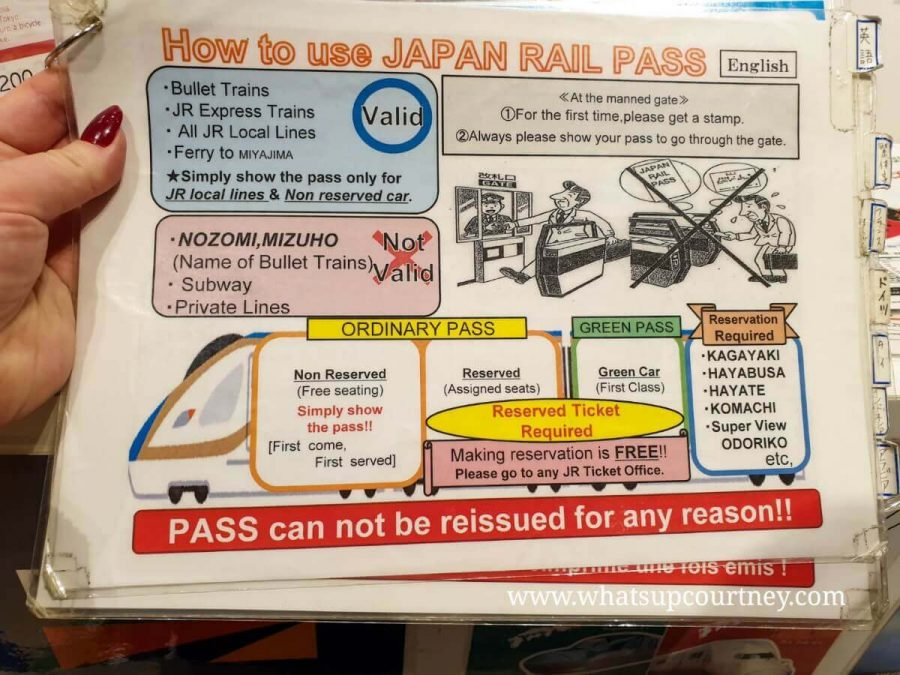 Japan rail pass guide - read more on Japan travel tips at www.whatsupcourtney.com