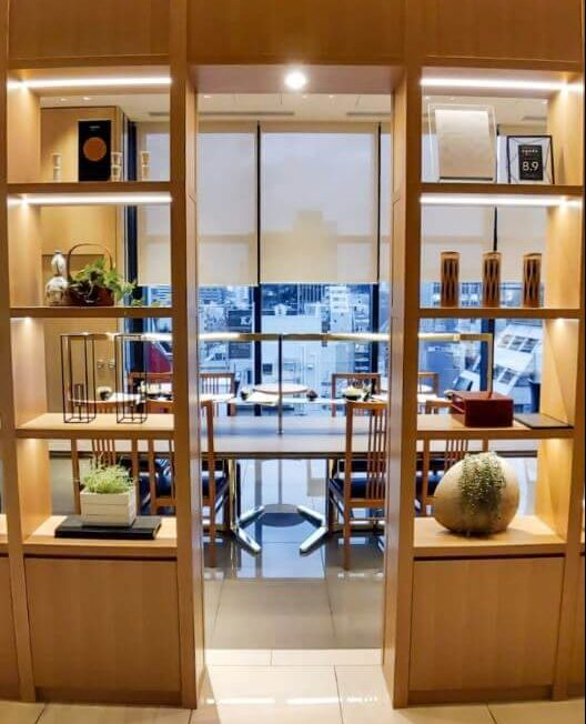 Modern interior decoration at the main reception of Candeo Hotel Shimbashi - - read more at www.whatsupcourtney.com