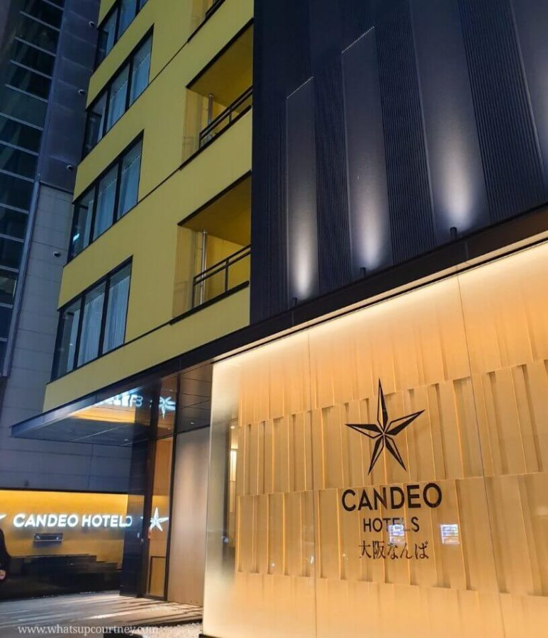 Candeo hotels Osaka Namba building very close to Dotonburi street and streetfood - - read more at www.whatsupcourtney.com